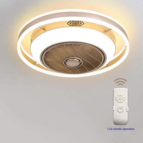 (CZT LED Negative Ion Fan Light, Bedroom Room Lighting, Remote Control Timing Table LED Ceiling Light, Home Living Room Decorative Fan Light,White,60CM)