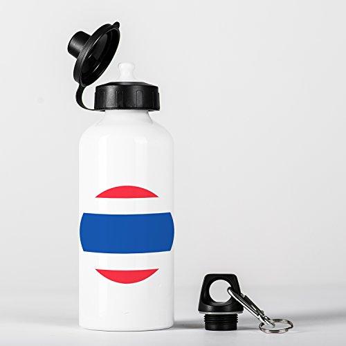 Thailand Thai Flag ประเทศไทย ธงชาติไทย Aluminium Water Bottle by Micro Gorilla