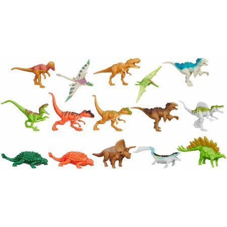 "Hasbro Jurassic Park Jurassic World Bag of 15 3"" Dinosaurs"