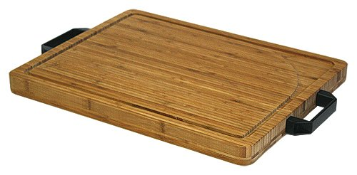 Simply Bamboo BCM23 Carving, Chopping and Serving Board with Artisan-Crafted Heavy Duty Handles, X-Large, 19.625