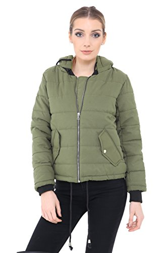verde oliva chaqueta Generation guateada Fashion Chaqueta mujer para wnRn4qUAO
