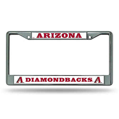 (MLB Arizona Diamondbacks Chrome License Plate Frame)