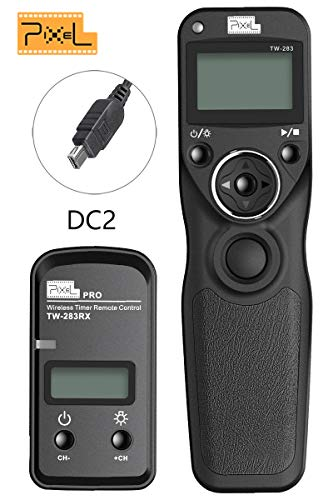 PIXEL Digital SLR Cameras Shutter Cord Release Remote Control Timer for Nikon Z6 Z7 D7500 D3100 D3200 D3300 D5000 D5100 D5200 D5300 D5500 D90 D7100 D7200 D600 D610 D750 Replaces (Remote Control For D3200)