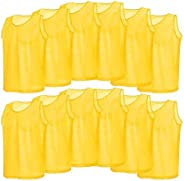 Soccer Vests Mesh Sports Vest Team Uniform Scrimmage Training Practice Pinnies for Team Games for Adults Kids