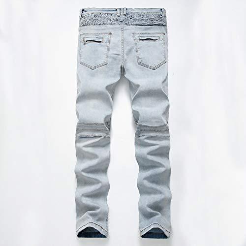 Pantalons 28 Chat Moyenne Lavé 02 Saisons Bleu Hommes Jeans Loisirs Taille Gzyd Blanc De Pour Noir Les Moustaches 04 Quatre CBwxnaXUq