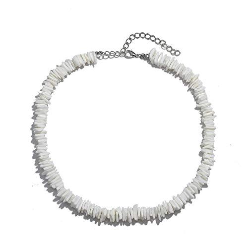 Puka Shell White - HSWE Puka Shell Choker Necklace for Women Seashell Necklace Puka Shell Chokers Hawaiian Summer Jewelry Set (Shell Necklace#2)