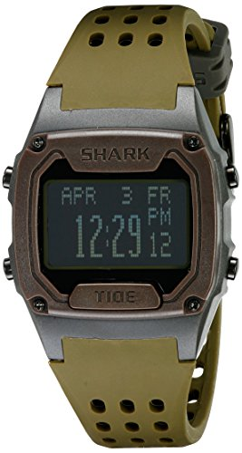 [Freestyle Unisex 10019170 Tide Trainer Digital Display Japanese Quartz Brown Watch] (Brown Shark Watch)