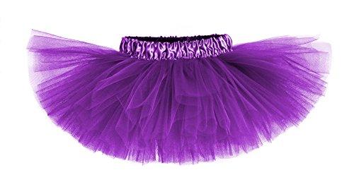 Jellybean Purple Classic Girls & Teens Tutu with Satin Waistband - Made in USA (2-4T)
