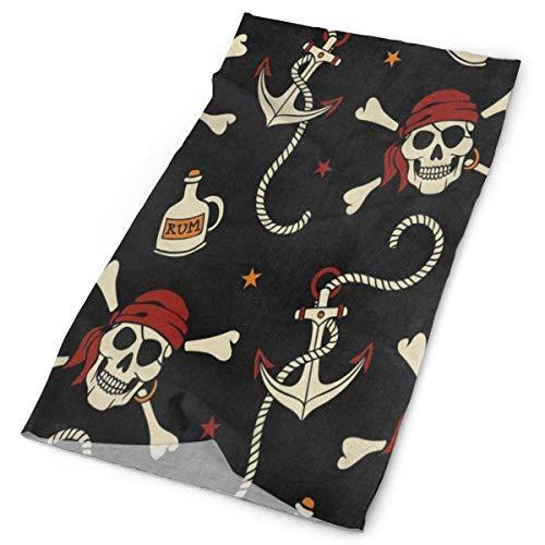 Headband Pirate Star Skull Outdoor Scarf Mask Neck Gaiter Head Wrap Sweatband Sports Headwear