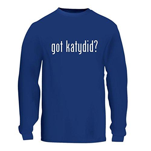 got katydid? - A Nice Men's Long Sleeve T-Shirt Shirt, Blue, Large