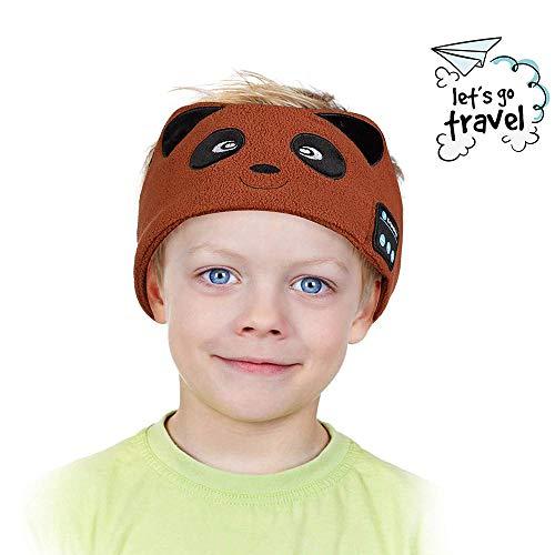 Joseche Kids Headphones Wireless V4.2 Wireless Sleep Headband Adjustable Comfortable Fleece Headband Sleep Headphone with Microphone for Travel and Home