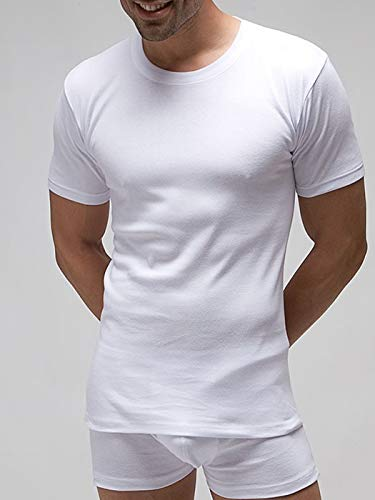 RAPIFE Camiseta Interior Hombre Manga Corta 100% algodón Talla 56-l