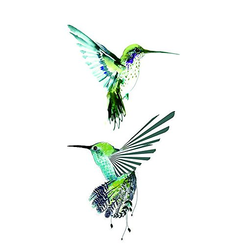WYUEN 5 PCS Hummingbirds Women Body Temporary Tattoos Kids Fake Tattoo Stickers Children Body Art 9.8X6cm (FA-244)