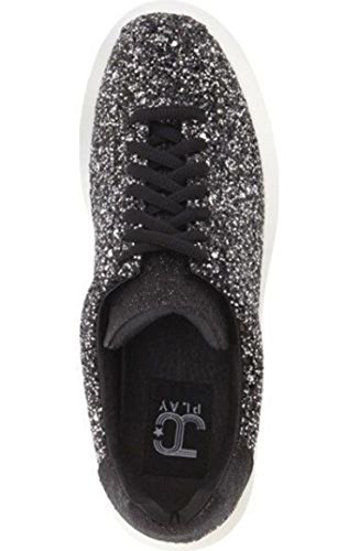 Jeffrey Campbell Mujeres Velocity Sneaker Black Glitter (7)