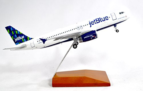 Airbus A320 Model Airplane - GeminiJets JetBlue Airbus A320-200 Diecast Airplane Model N537JT With Stand 1:200 Scale Part# G2JBU662