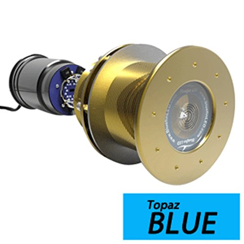 - Bluefin LED Great White GW20 Thru-Hull Underwater LED Light - 9000 Lumens - Topaz Blue Marine , Boating Equipment