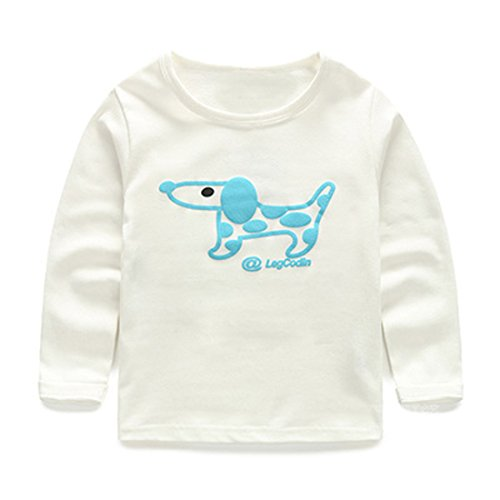 Price comparison product image Pipi Kids Boy Cartoon Neddy Dog Long Sleeve T-shirt Tee Shirt 2T 1-color