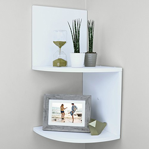 Ballucci Large 2 Tier (4 pcs) Wall Mount Corner Shelf, 12