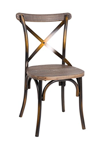 Acme Furniture 73077 1 Piece Zaire Side Chair, Walnut & Antique - Walnut Chairs French