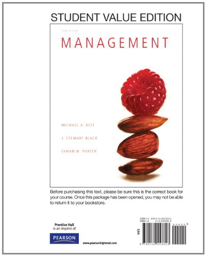 Management, Student Value Edition