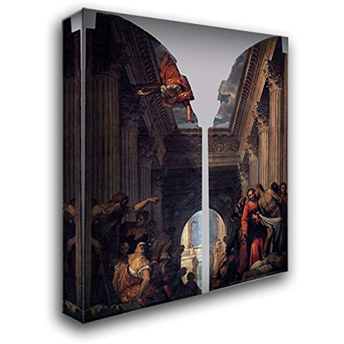 Healing of The Lame Man at The Pool of Bethesda 20x22 Gallery Wrapped Stretched Canvas Art by Paolo Veronese (The Man At The Pool Of Bethesda)