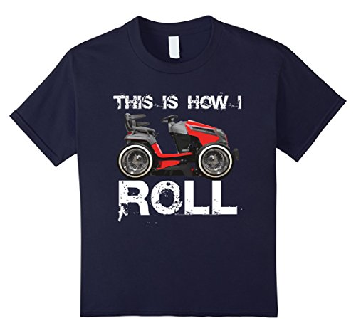 Price comparison product image Kids LAWN MOWER T-SHIRT; This Is How I Roll LOWRIDER T-SHIRT 8 Navy