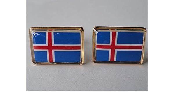 Iceland Icelandic Flag Surgical Steel Earrings
