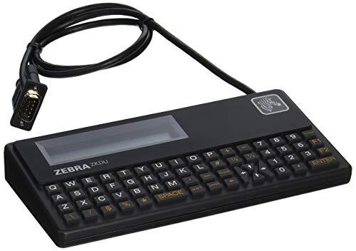 Zebra Technologies ZKDU-001-00 Series ZKDU Keyboard Display Unit for All EPL/ZPL Printer, 62-Key QWERTY Keyboard, Serial Port, Black (Renewed)