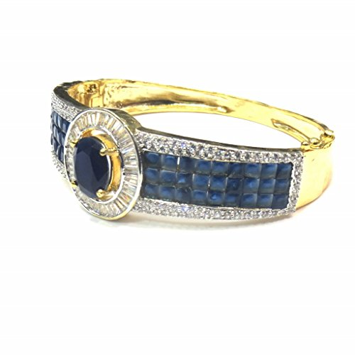 Jewelshingar Jewellery Diamond Looking Free Size Bracelet For Girls ( 14761-bcad-blue ) by Jewelshingar