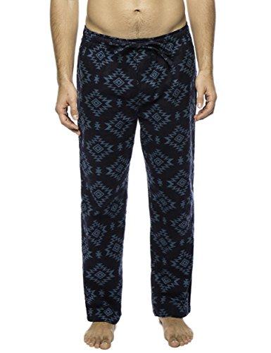 Men's 100% Cotton Flannel Lounge Pant - Aztec Navy/Teal - X-Large