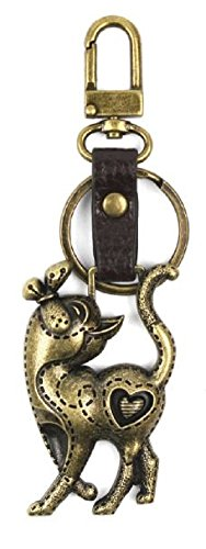 Kitten Cat Purse - Chala Charming Key Chain Purse Bag Fob Charm Cat Kitten Butterfly Heart