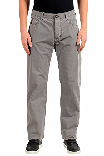 ARMANI JEANS AJ Men's Gray Straight Leg Light Jeans Size US 32 IT (Armani Straight Leg Jeans)