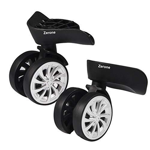 Zerone Luggage Suitcase Wheels,Swivel Wheel Replacement Luggage Travel Suitcase Wheels Plastic Bearings Repair Set for Luggage Kits Pack of 2 ()