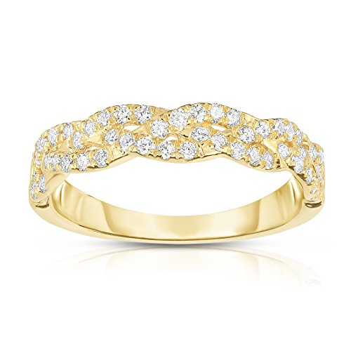Noray Designs 14k Yellow Gold Diamond (0.45 Ct, G-H Color, SI2-I1 Clarity) Infinity Ring by Noray Designs