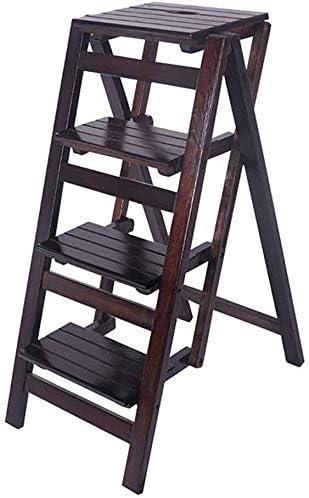 XCJJ Escalera plegable de 4 etapas, taburete de barra ligera para el taburete de la barra del hogar, escaleras domésticas para niños y adultos, herramientas de jardín para uso doméstico, alto rendimi:
