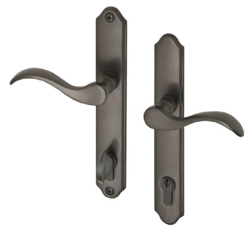 Swing Door Bronze Handle Set with Locking Cylinder fits 1-3/4\