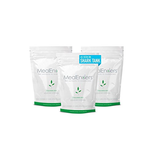 MealEnders Signaling Lozenges — Control Appetite and Cravings, Stop Overeating, and Boost Your Diet Weight Loss Program, 25-count Bag (Pack of 3) (Chocolate Mint)