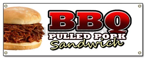 BBQ Pulled Pork Sandwich Banner Sign barbque BBQ Sign