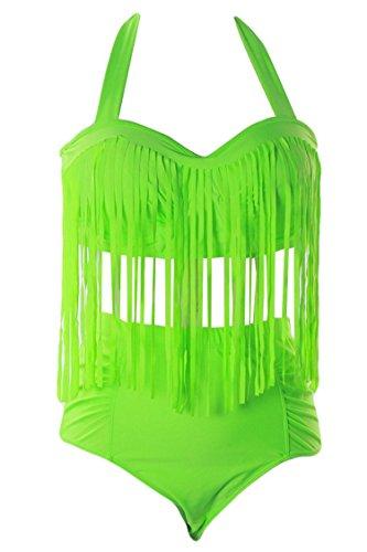 Womens Bikini Braided Fringe Swimwear