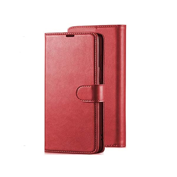 Perkie Vintage Series, Faux Leather Wallet Flip Case Kick Stand Magnetic Closure Flip Cover for Redmi 9 Power (Cherry) 2021 July Compatible Device: Redmi 9 Power Color: Cherry Case Type :- PU Leather Flip Wallet Cover Case