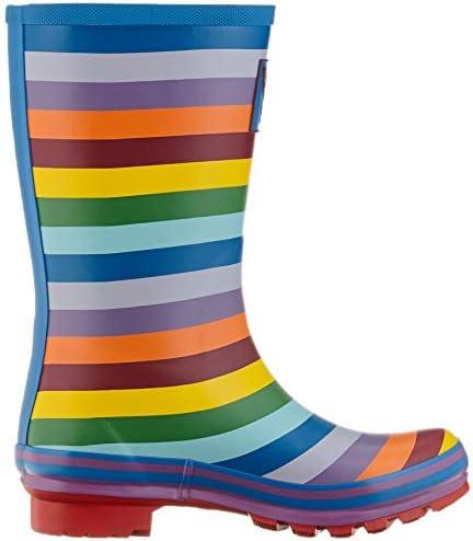Evercreatures Ladies Evergreen Wellington Boots Rainbow Pattern Various Sizes