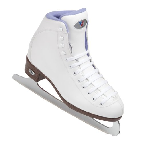 Riedell 113SF White Womens Figure Ice Skates - Riedell Adult Soft Boot