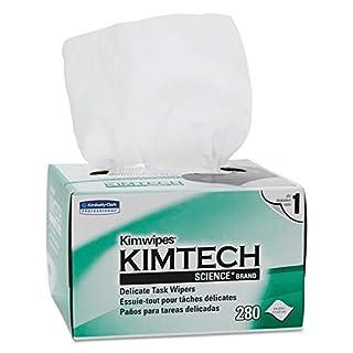 Kimtech 34155CT Kimwipes, Delicate Task Wipers, 1-Ply, 4 2/5 x 8 2/5, 280 per Box (Case of 60 Boxes) (B001429EHI) | Amazon price tracker / tracking, Amazon price history charts, Amazon price watches, Amazon price drop alerts