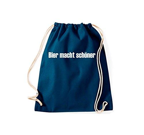 Krokodil - Bolso de tela de algodón para mujer azul marino