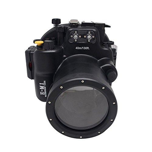 Mcoplus 40M/130ft Waterproof Underwater Camera Housing Diving Bag Case for Olympus E-M1 12-40mm by Mcoplus