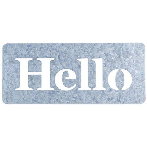 Jillibean Soup Mix The Media Galvanized Stencil-4''X8.5'' Hello Word by Hampton Art