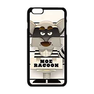 Personalized Creative Cell Phone Case For iPhone 6 Plus,cute lovely moe racoon