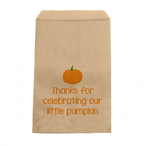 Little Pumpkin Favor Bags - Candy Bags - Baby Shower or Birthday Party Favor Bags - 6.25