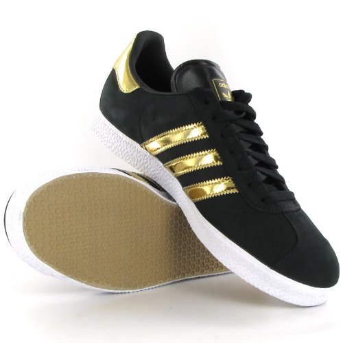 adidas gazelle gold black