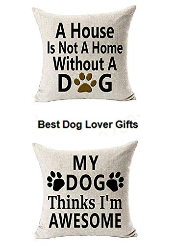 Pet Dog cat Throw Pillow Case,Independence Day Softer Cushion Cover Decorative,Washable Cotton Blend Linen Pillowcase,Floor Pillow Seating Cushion for Bedroom,Patio,Couch, Sofa (18